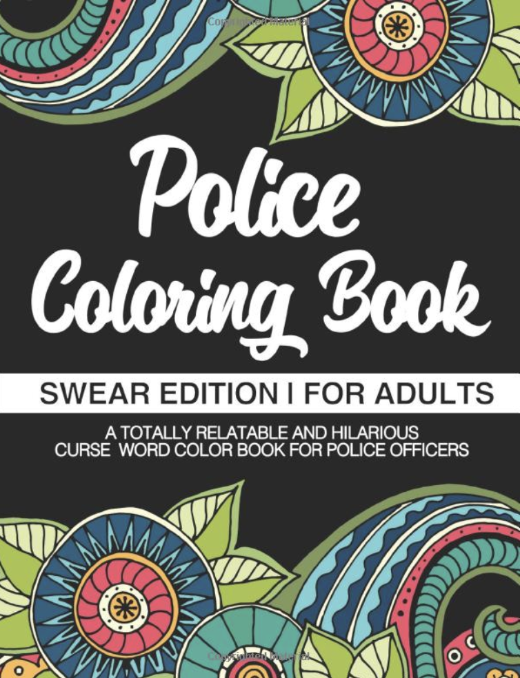police coloring book funny cop gift
