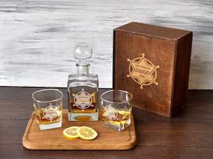 whiskey set for a sheriff