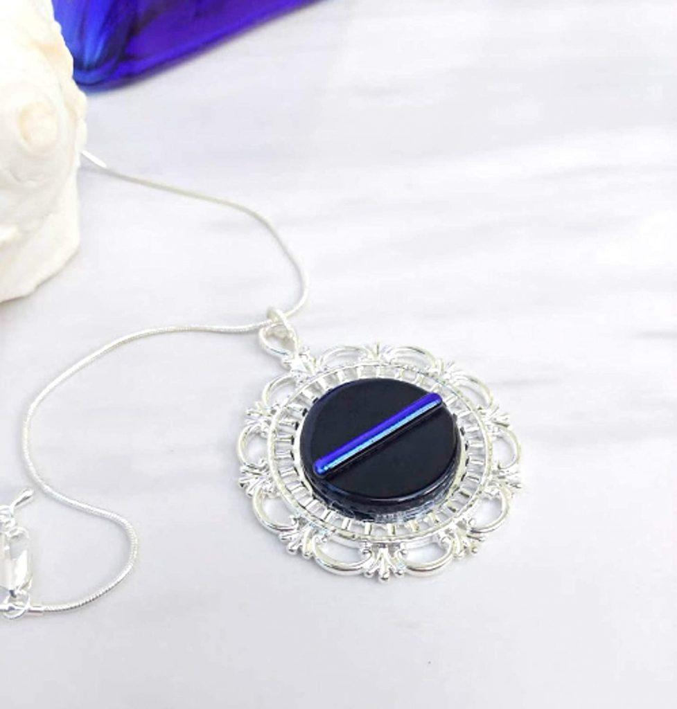 thin blue line pendant