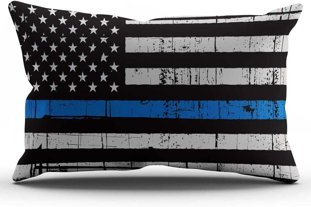 thin blue line pillow cover