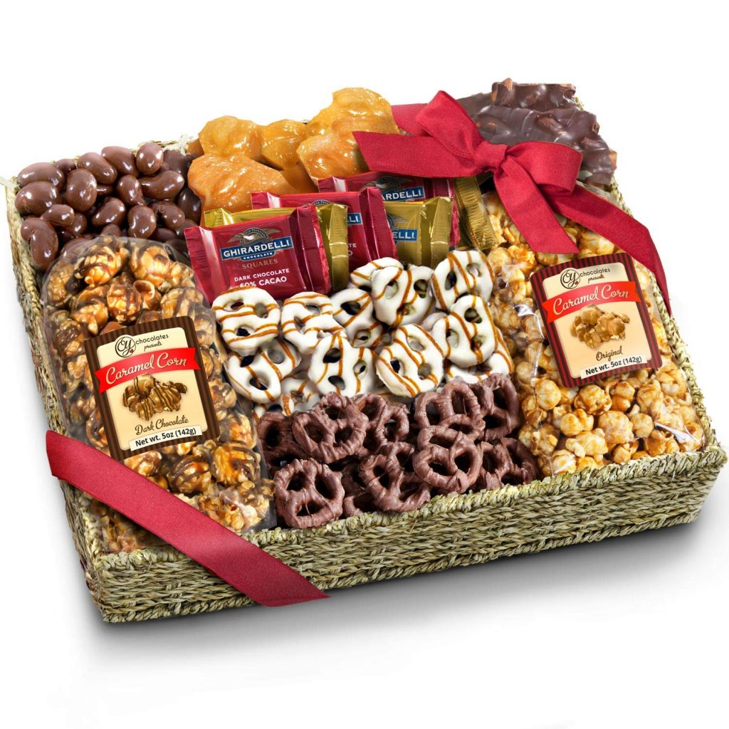 chocolate gift basket for cops