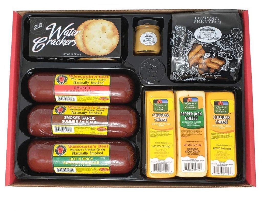 cheese sausage basket for cops