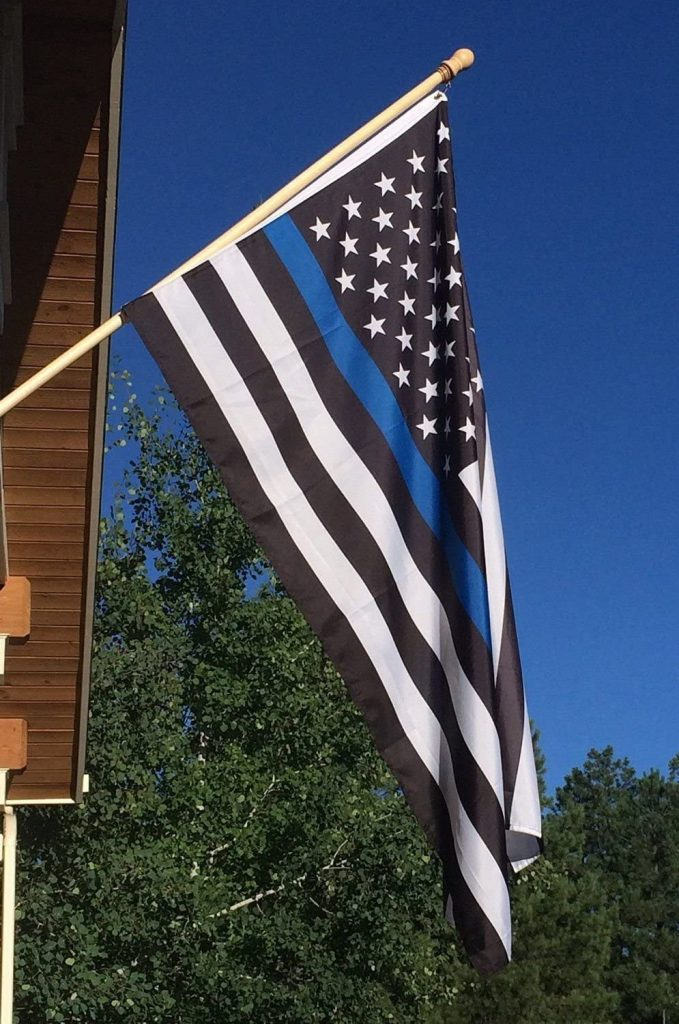 thin blue line flag novelty gifts for poilce