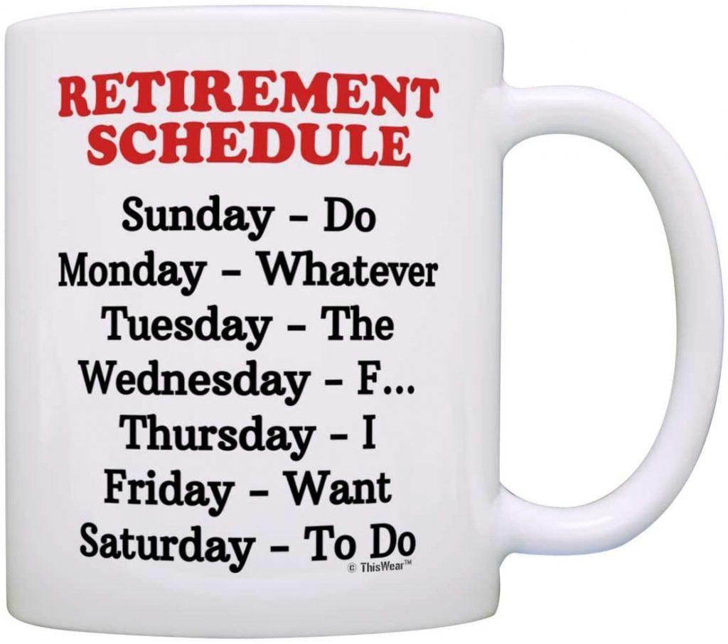 A coffee mug to greet retired cops each morning