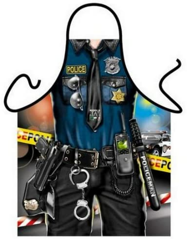 A delightful apron to bring back the good ol' days for retired cops