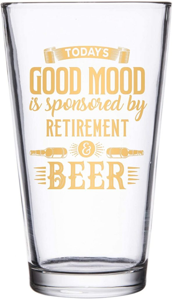 A set of pint glasses & their favorite brew for cops
