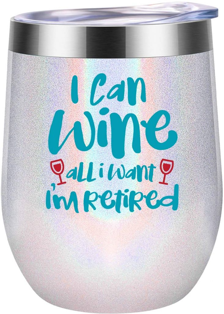 An overtly feminine wine glass for cops
