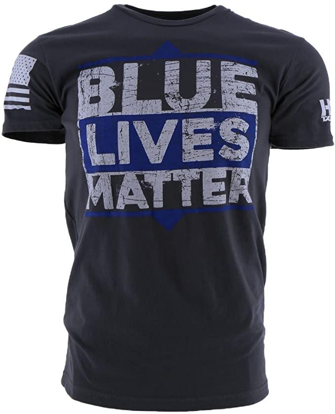 Grunt Style Hydra Tactical Blue Lives Matter Men's T-Shirt