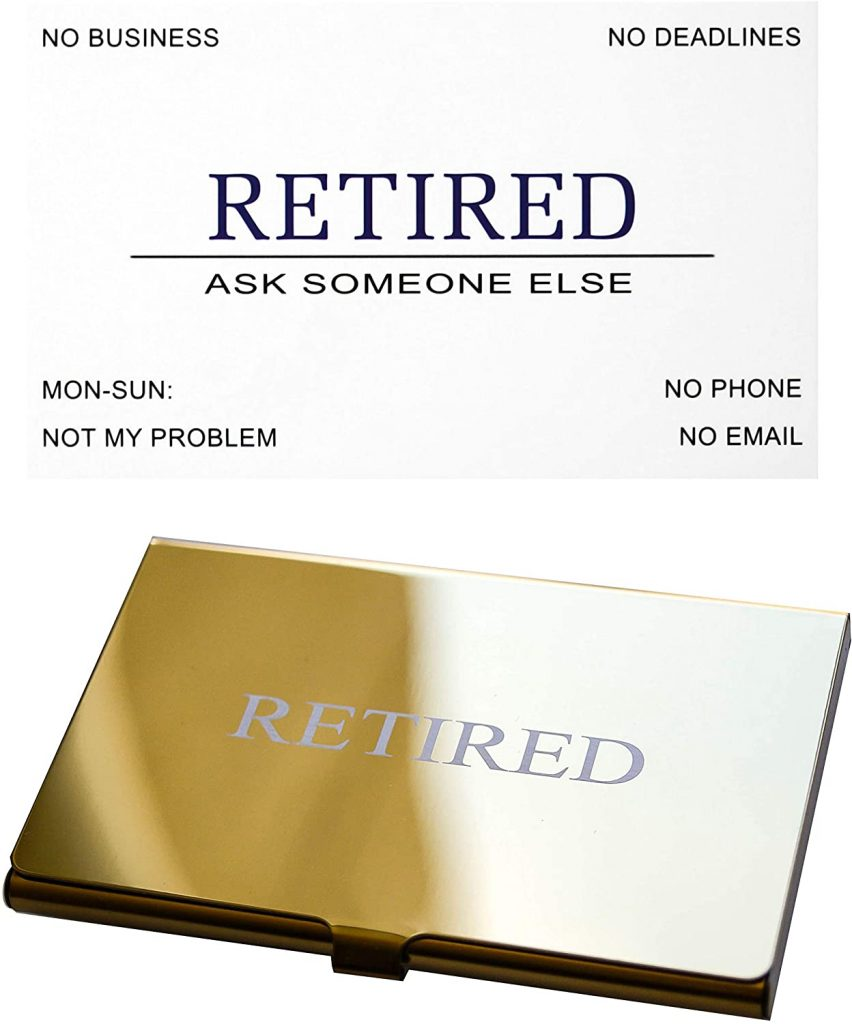 Retired business cards set for Police