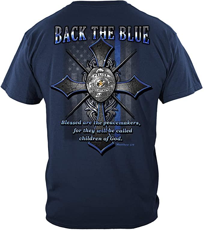 Thin Blue Line T Shirt - Law Enforcement Gear for Men