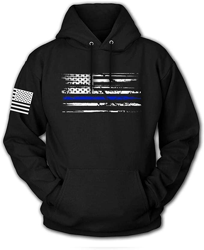 Tactical Pro Supply USA Sweatshirt Hoodie - American Flag Patriotic Jacket Sweater for Men or Women